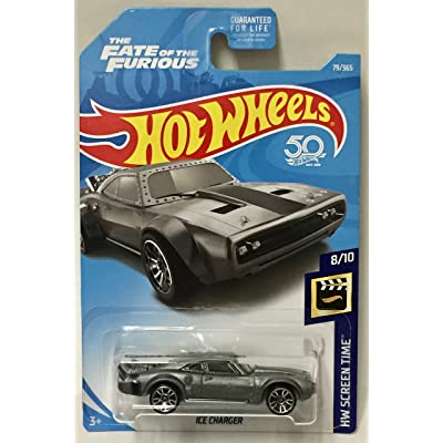 Hot Wheels 2020 50th Anniversary HW Screen Time The Fate Of The Furious Ice Charger 79/365, Gray: Toys & Games