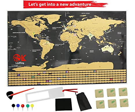 Amazon scratch off world map poster large ultimate 2018 us scratch off world map poster large ultimate 2018 us states outline 252 country gumiabroncs Images