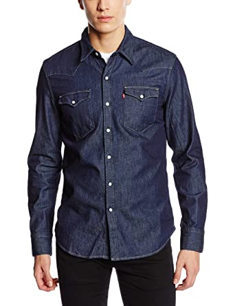 Levi's Barstow Western, Chemise Casual Homme, (Sandy Tint Dark), Small