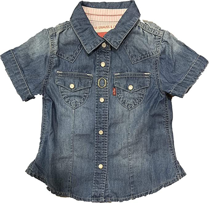 Levis - Camisa de Manga Corta Aileen, niña, Color: Indigo (3): Amazon.es: Ropa y accesorios