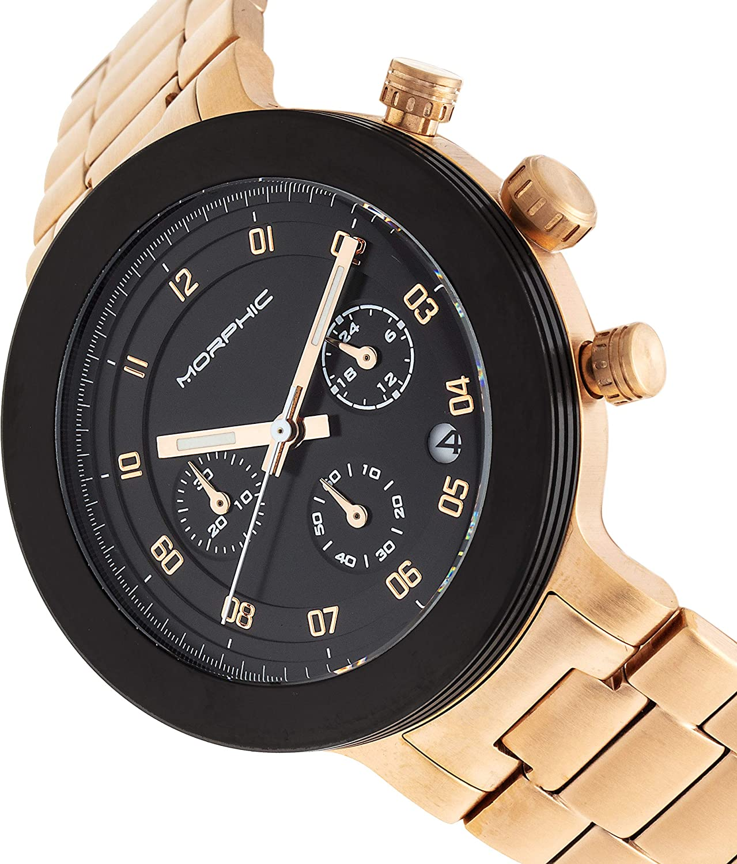 Morphic M78 Series Montre chronographe Rose Gold/Black/Black/Rose Gold <B>sku: </B>mph7806