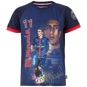 b831a63d83cd9 Angel-Camiseta DI MARIA Colección oficial del equipo de fútbol PARIS SAINT-GERMAIN  talla infantil  Amazon.es  Deportes y aire libre