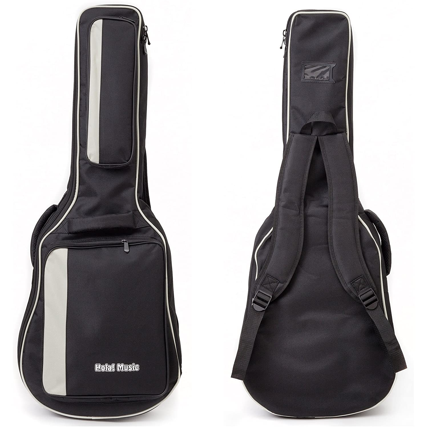 Electric Guitar Gig Bag by Hola! Music, Deluxe Series with 15mm Padding, Black MUS267297
