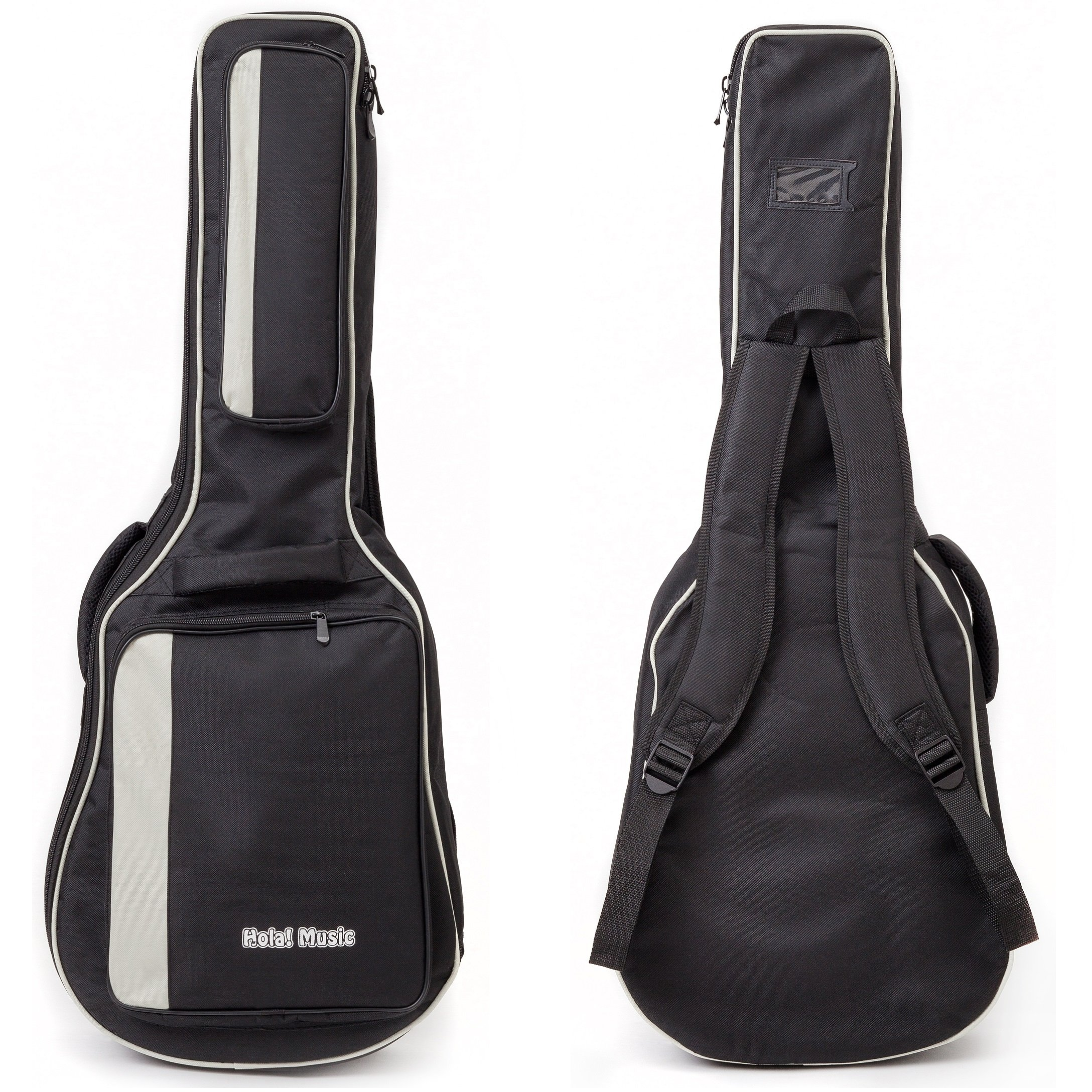 c7b4667177 Acoustic and Classical Guitars Gig Bag 3/4 Size (36 inch) by Hola! Music,  Deluxe Series with 15mm Padding, Black