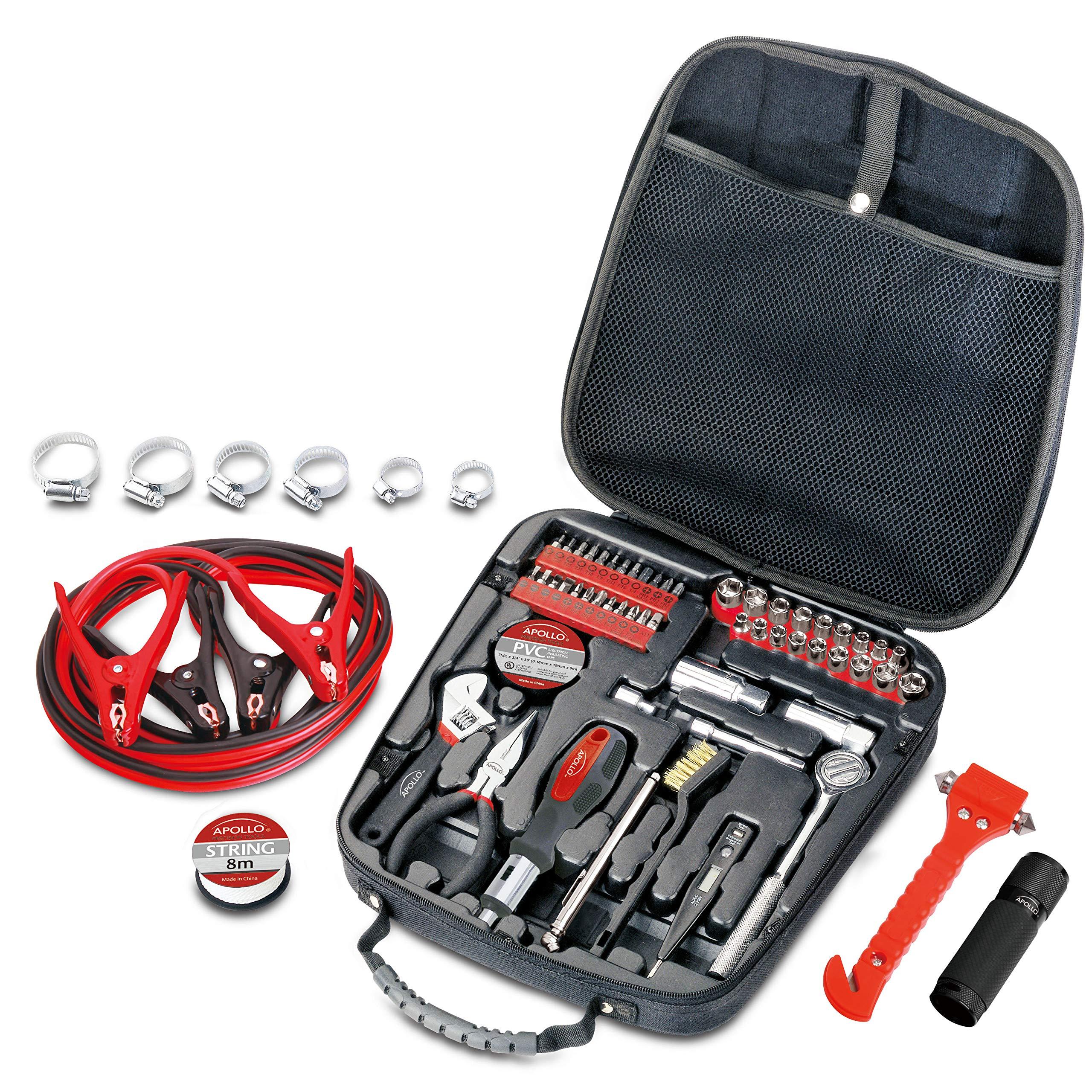 Apollo Tools DT0101 Travel & Automotive Tool Kit, 64-Piece