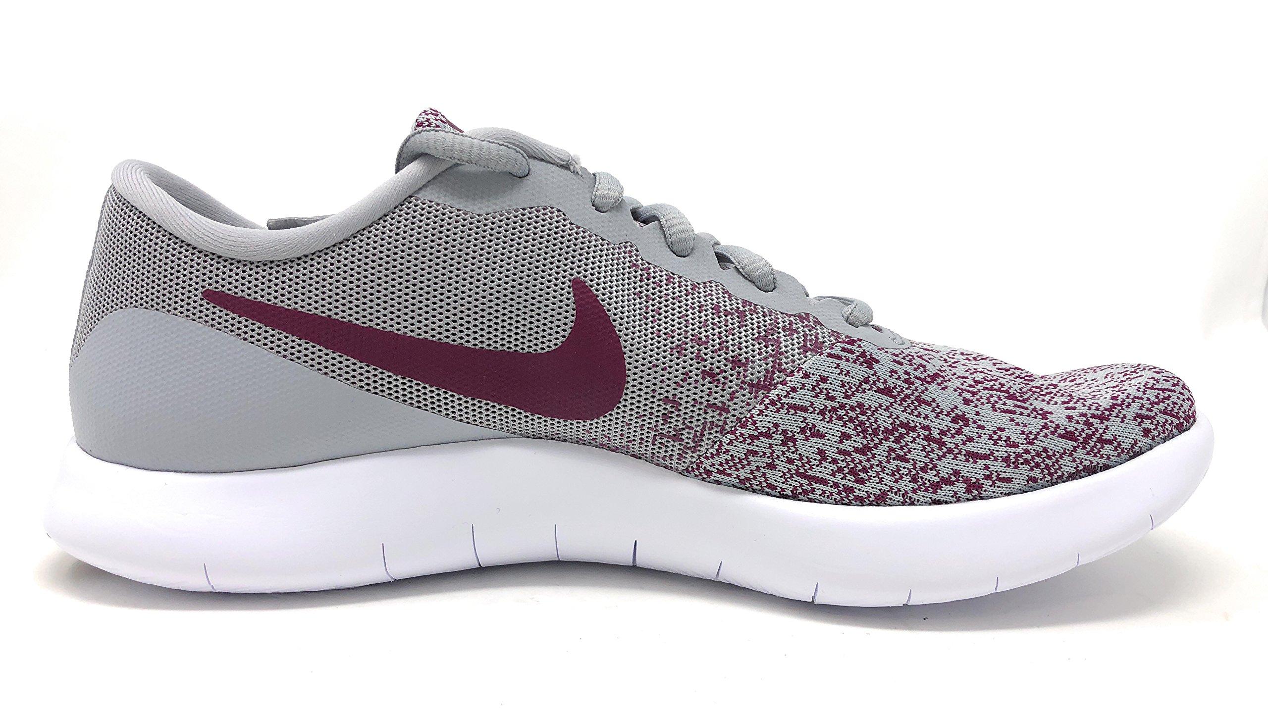 NIKE Womens Flex Contact Wolf Grey/Bordeaux-White Running Shoe 9 Women US