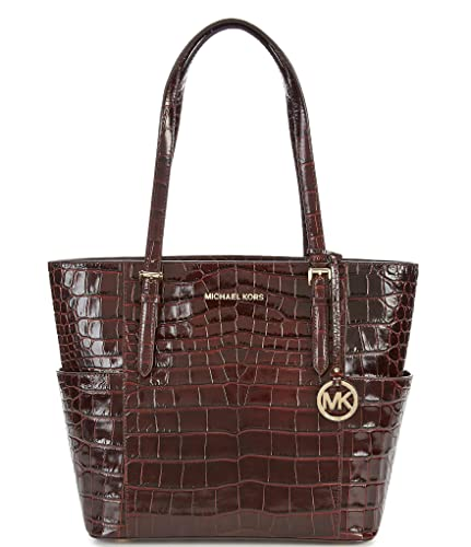 596c26de9967 Amazon.com  MICHAEL Michael Kors Jet Set Crocodile-Embossed Large ...