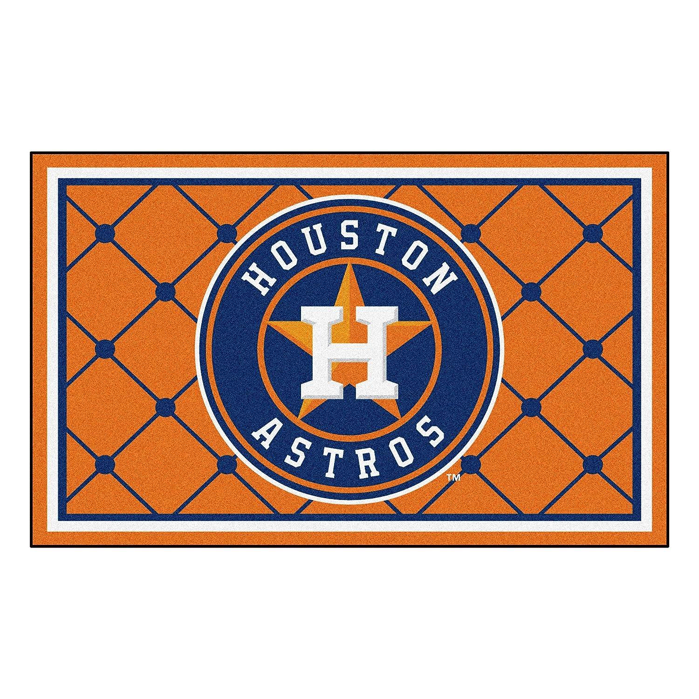 FANMATS MLB Houston Astros Nylon Face 4X6 Plush Rug