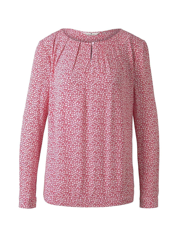 TOM TAILOR dam blommönster blus Pink Offwhite Floral Minimal