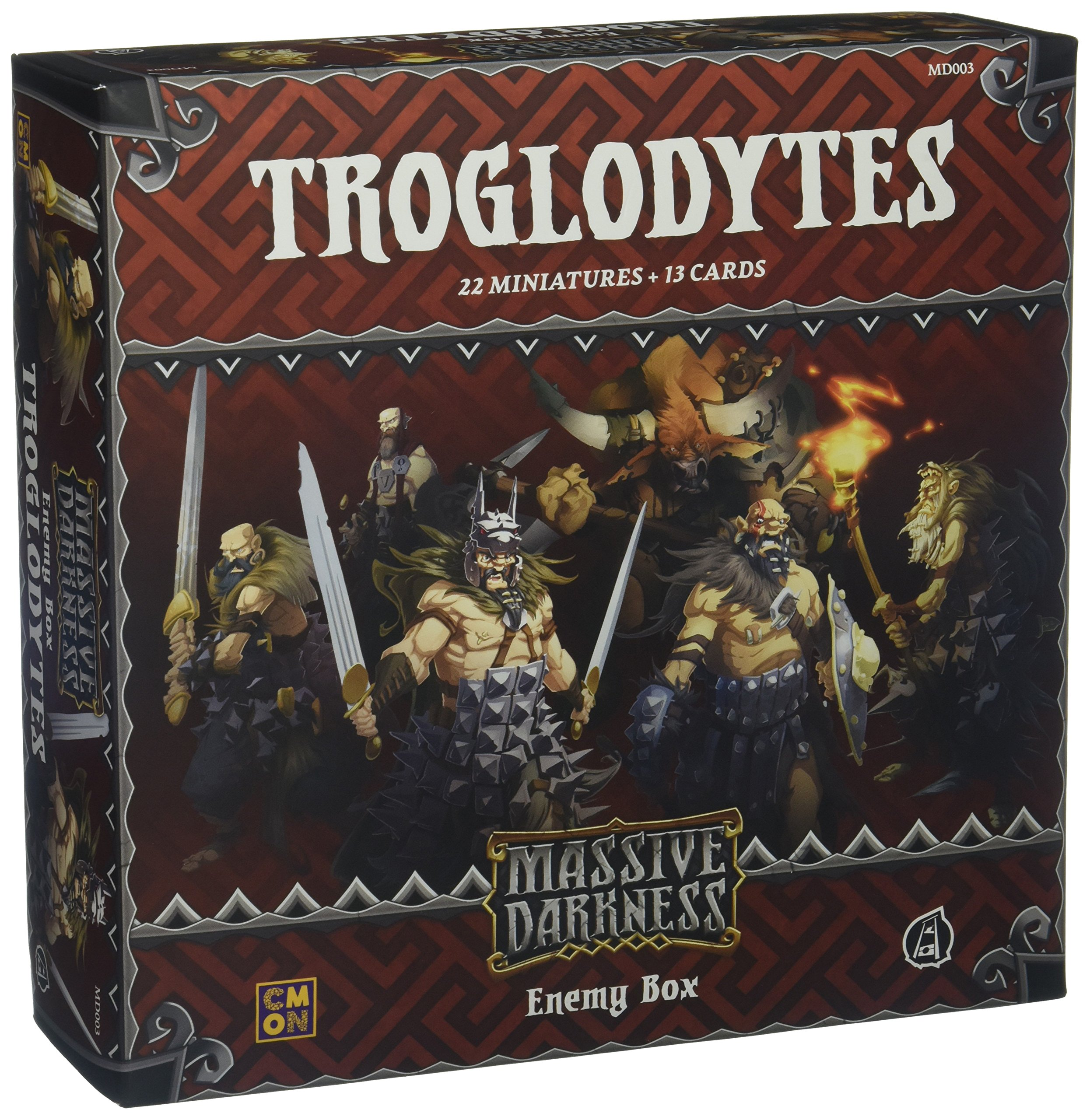 CMON MD003 Massive Darkness: Enemy Box: Troglodytes Board Games