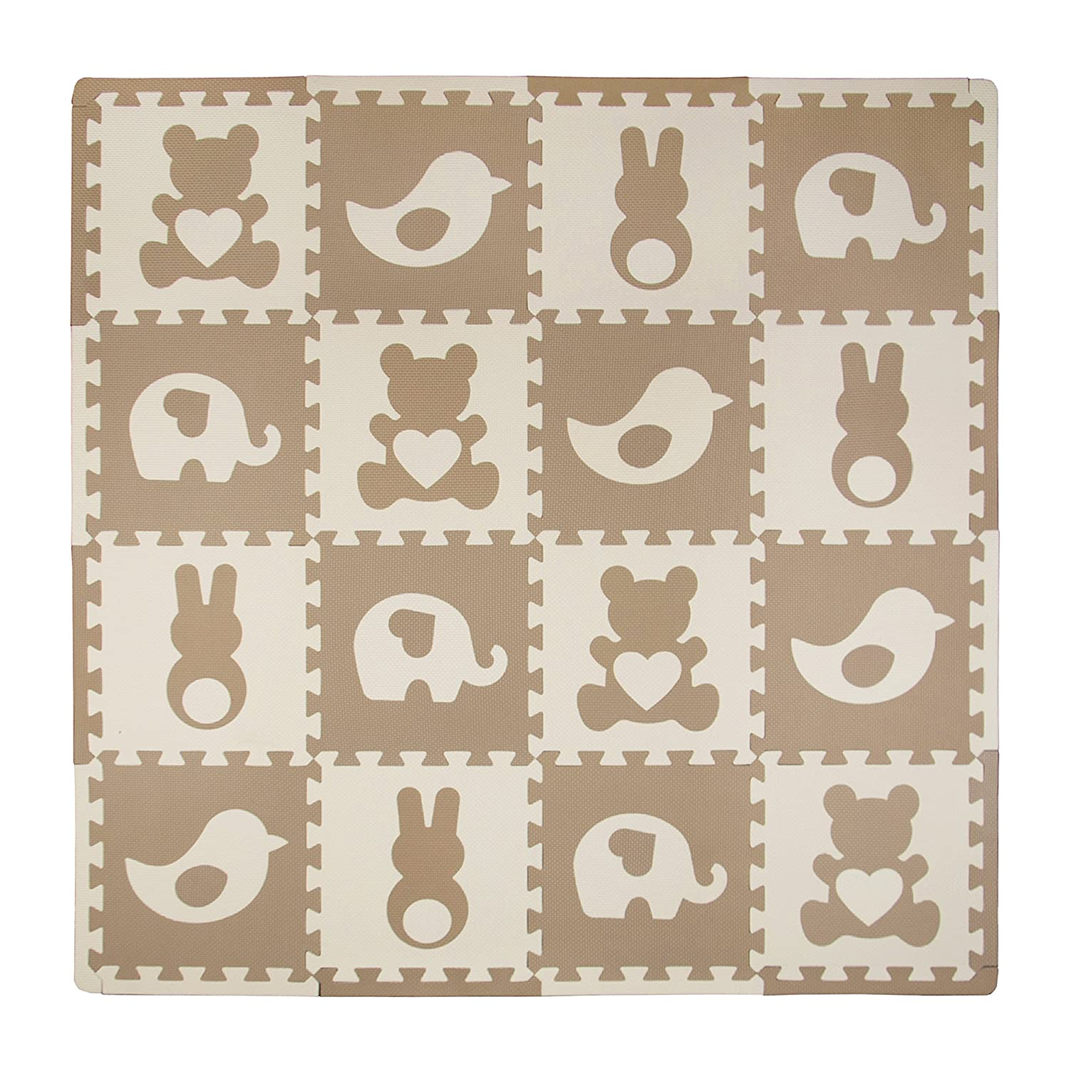 Tadpoles Playmat Set, Teddy and Friends Brown cpmsev929