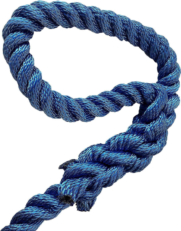Green Home amarre de cuerda cuerda de amarre con ojo gesplei/ßt/ Blanco /Poli/éster PES/ /roc/ío para pasamanos de cuerda color blanco//azul