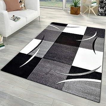 Amazon.de: Xrug Moderner Teppiche für Wohnzimmer grau schwarz weiß ...