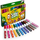 Crayola Silly Scents Scented Markers, Washable Markers, 12Count, Gift for Kids, Assorted