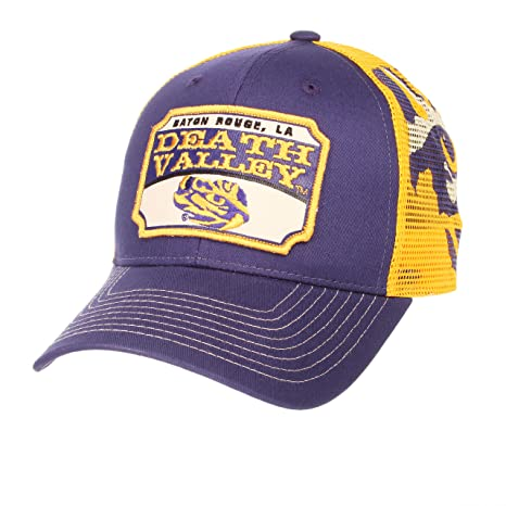 online retailer 0eef3 374ae Image Unavailable. Image not available for. Color  ZHATS NCAA LSU Tigers  Men s Interstate Trucker Cap ...