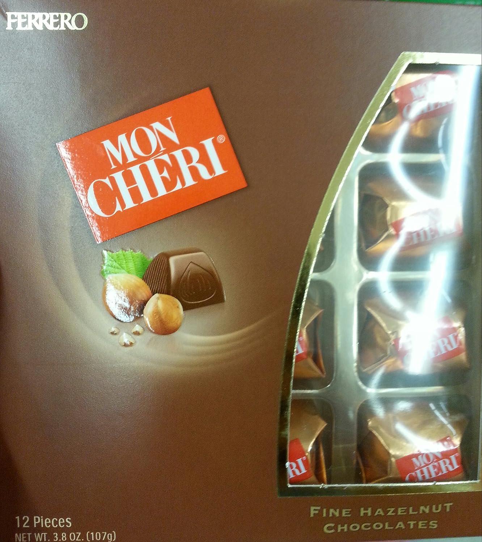 Amazon.com : Mon Cheri Fine Hazelnut Chocolates By Ferrero 12 ...