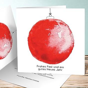 Weihnachtskarten für Kinder, Weihnachtskugel aquarell 100 Karten ...