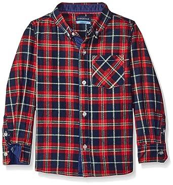 5d519e9ff87 Amazon.com  Andy   Evan Boys  Holiday Flannel Button Down Shirt ...