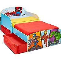 Worlds Apart Marvel Superhéroes-Cama Infantil para niños pequeños con cajón Inferior, Tela, 142x77x59cm