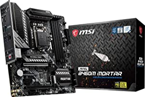 MSI MAG B460M Mortar Gaming Motherboard (mATX, 10th Gen Intel Core, LGA 1200 Socket, DDR4, CFX, Dual M.2 Slots, USB 3.2 Gen 1, 2.5G LAN, DP/HDMI)