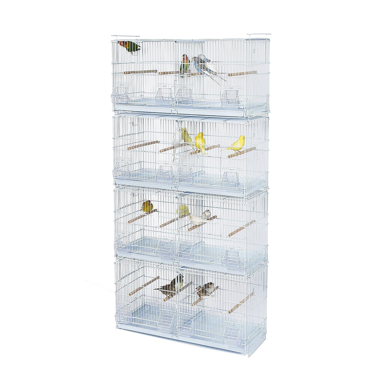 KOOKABURRA Walnuss–X4Double Wire Zucht Käfig–Für Nymphensittiche, kleine Sittiche, Wellensittiche, Kanarienvögel, Finken