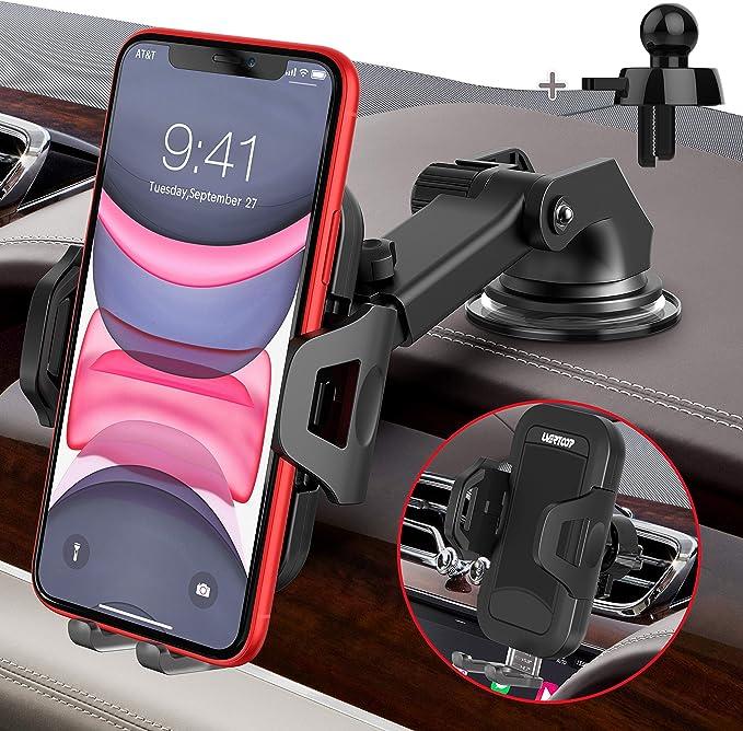 Uvertoop Handyhalterung Auto Handyhalter Fürs Auto 3 In 1 Lüftung Saugnapf Kfz Handyhalterung Aktualisiert Handy Halterung Auto Für Iphone 11 Pro Xs Max Xr 8 Plus Galaxy S10 Alle Smartphone Modelle Elektronik