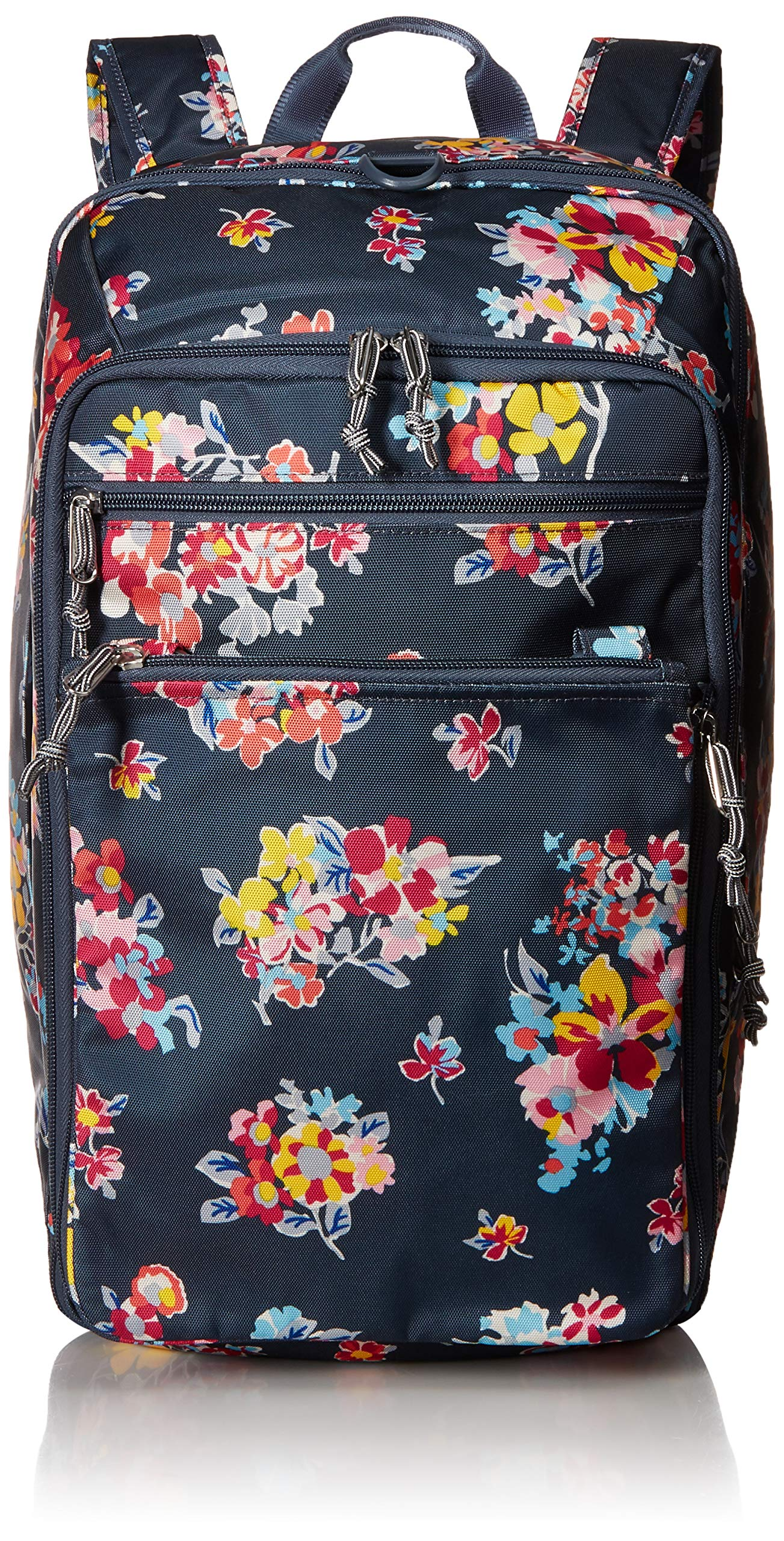 Vera Bradley Lighten Up Convertible Travel Bag, Tossed Posies