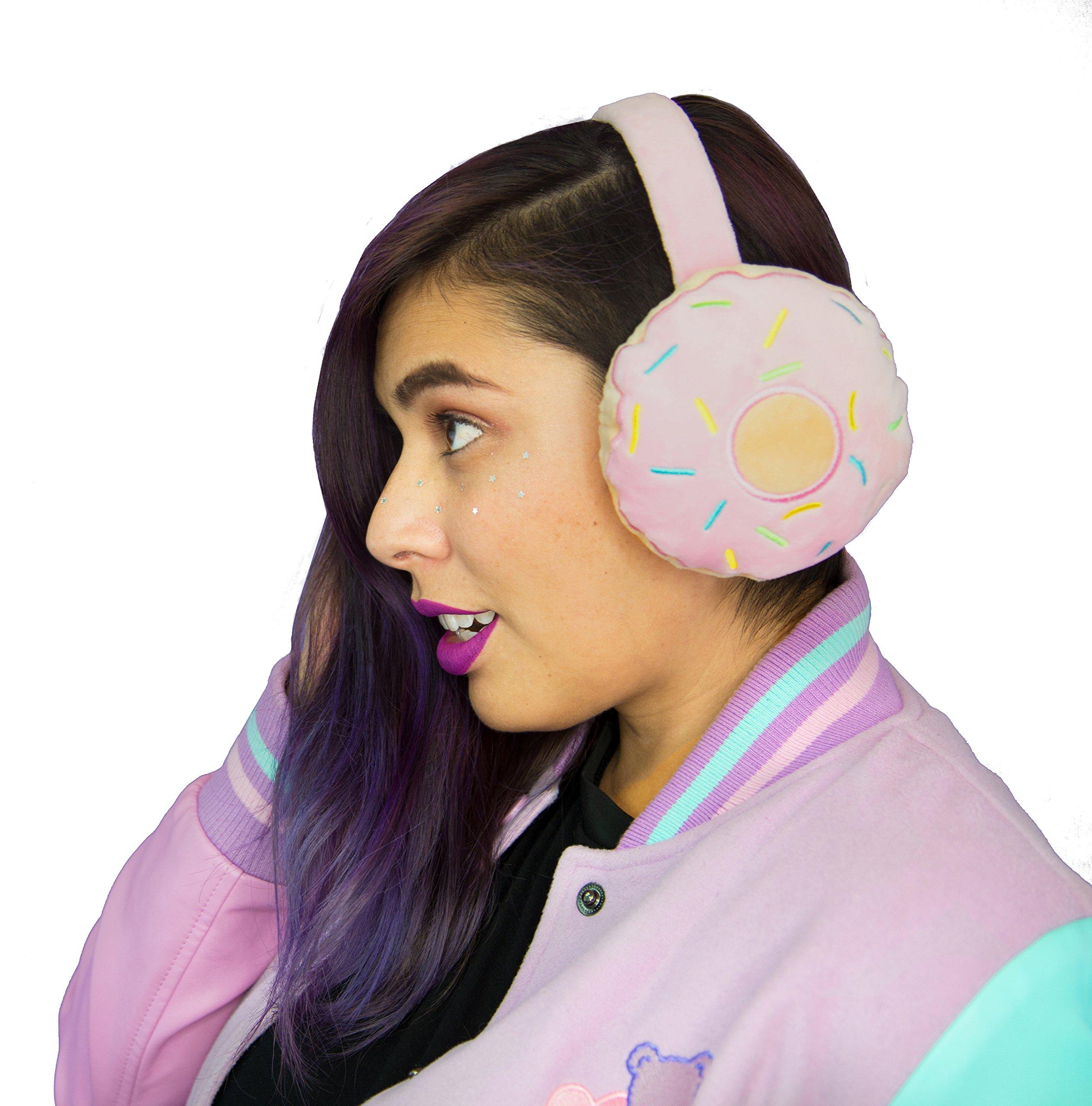 Earmuffs Foldable Donut Cute Pink Winter Fashion Accessory for women ladies girls - iHasCupquake