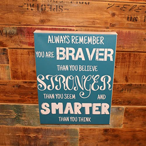 Amazoncom Canvas Art With Quote Always Remember You Are Braver