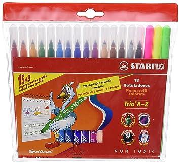 Stabilo 378/1-18 - Estuche de 18 rotuladores