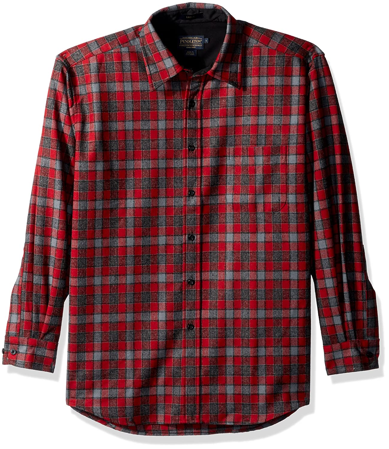 Pendleton SHIRT メンズ B01N5WFZJU M|Grey/Red Check-31963 Grey/Red Check-31963 M