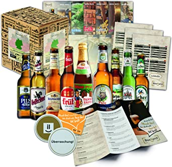 Regalo de Navidad con cervezas de Alemania (9x0.33l) Regalo de Navidad para papá esposo amigo esposo, idea de regalo para Navidad Navidad: Amazon.es: Alimentación y bebidas
