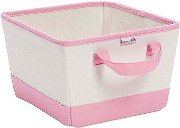 Munchkin Canvas Nursery Bin, Pink (Discontinued By Manufacturer)