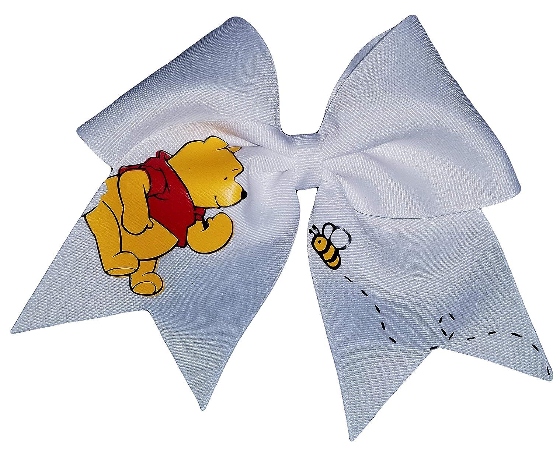 Cheer Bows White Winnie the Pooh Hair Bow AZBOWS 4336828982