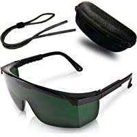 Premium Lichtschutzbrille für die HPL/IPL Haarentfernung - mit Schutzhülle und Brillenputztuch - Optimaler Schutz für Ihre Augen