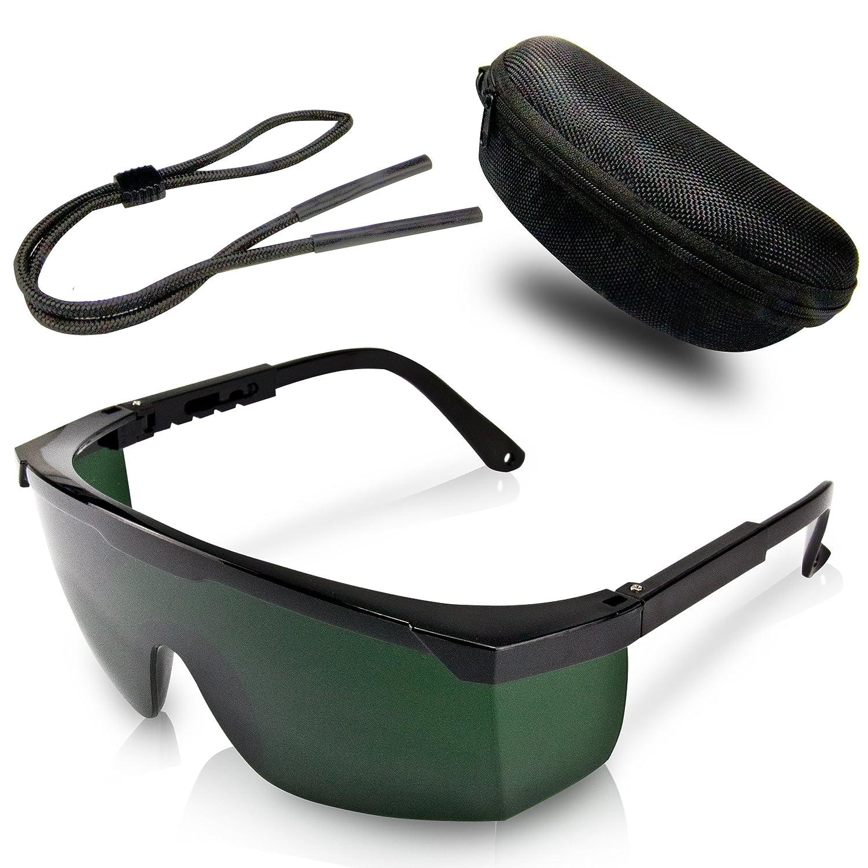 Gafas de protección premium para depilación HPL/IPL – Con funda protectora y paño de limpieza para las lentes – Comodidad absoluta y protección óptima para sus ojos Biutiju IPL Schutzbrille