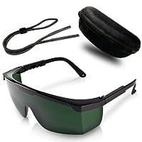 Gafas de protección premium para depilación HPL/IPL – Con funda protectora y paño de limpieza para las lentes – Comodidad absoluta y protección óptima para sus ojos
