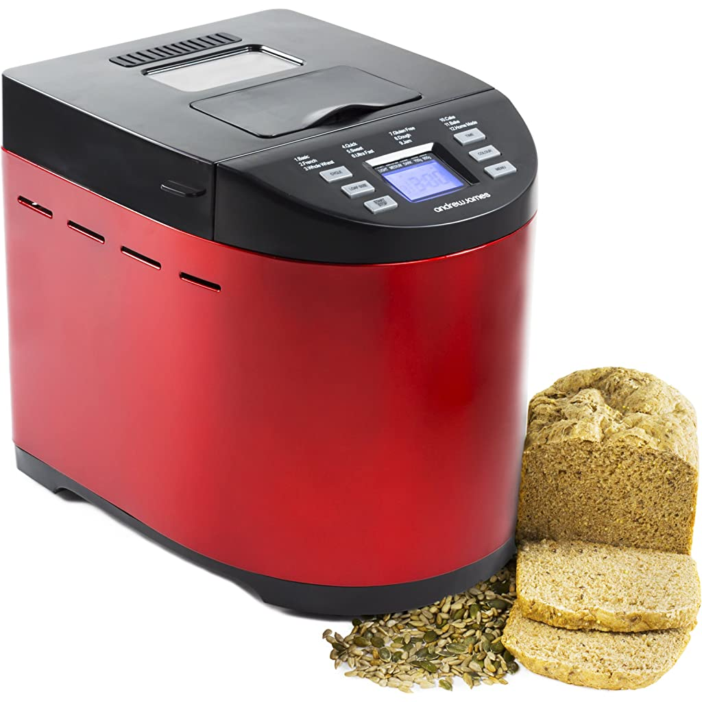 Andrew-James-Red-Premium-Bread-Maker