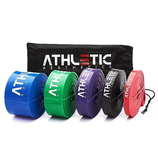 Premium Widerstandsbänder + Tasche und Übungsanleitung [Einzeln und im preiswerten Set] - Fitnessbänder / Resistance-Bands in