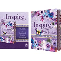NLT Inspire PRAISE Bible Feminine Deluxe: The Bible for Coloring & Creative Journaling