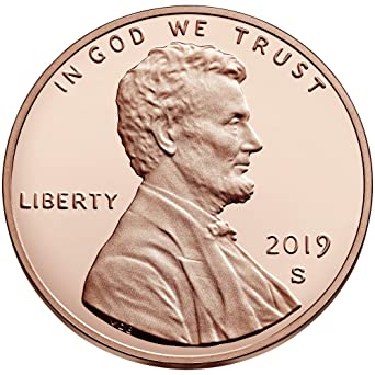 U.S 2019 Lincoln Shield Penny Philadelphia Mint Uncirculated One Cent Coin