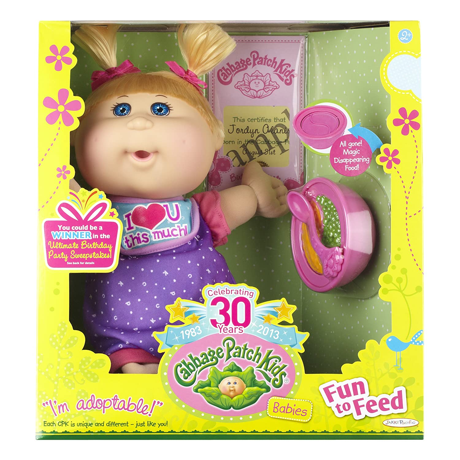 Amazon cabbage patch kids fun to feed babies girl doll blond amazon cabbage patch kids fun to feed babies girl doll blond blue eyes toys games 1betcityfo Images