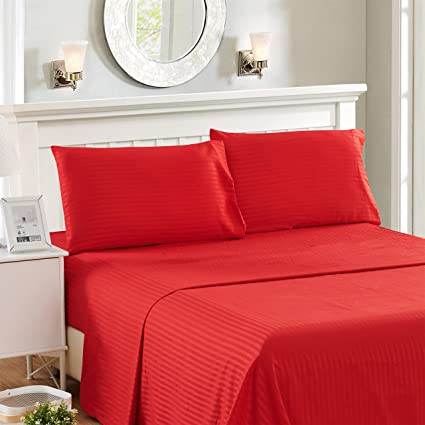 Lux Decor Collection 4 Piece Full Bed Sheet Set   HIGHEST Egyptian QUALITY  Microfiber 1800 Series