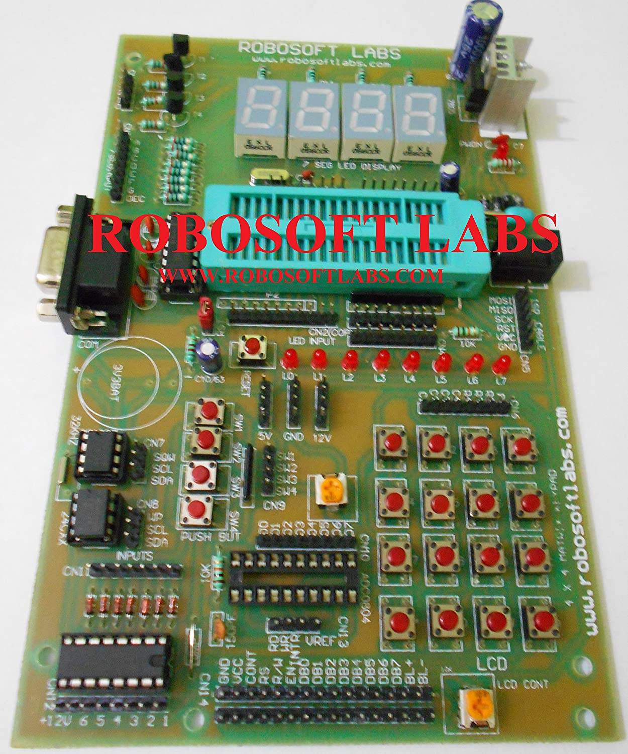 Buy Robosoft Labs 8051 8052 40 Pin Development Board With Max232 Interfacing Relay Pic Microcontroller Using Uln2003 Rtc At24c32 Ics Online At Low Prices In India