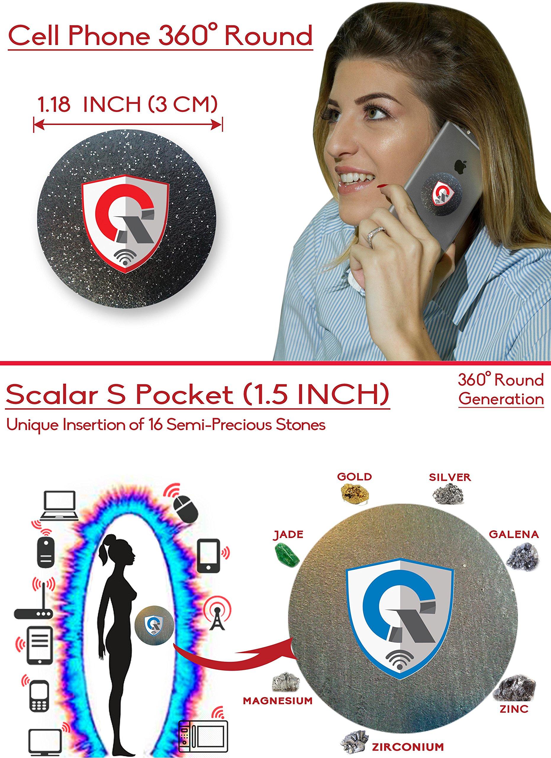 QUANTHOR Q360 + SPocket: 1 EMF Protection Cell Phone Shield for EMR/EMF Radiation Blocker + 1 Personal EMF Protector Scalar Energy Field Device, WiFi Shielding (Three International Awards) Bundle