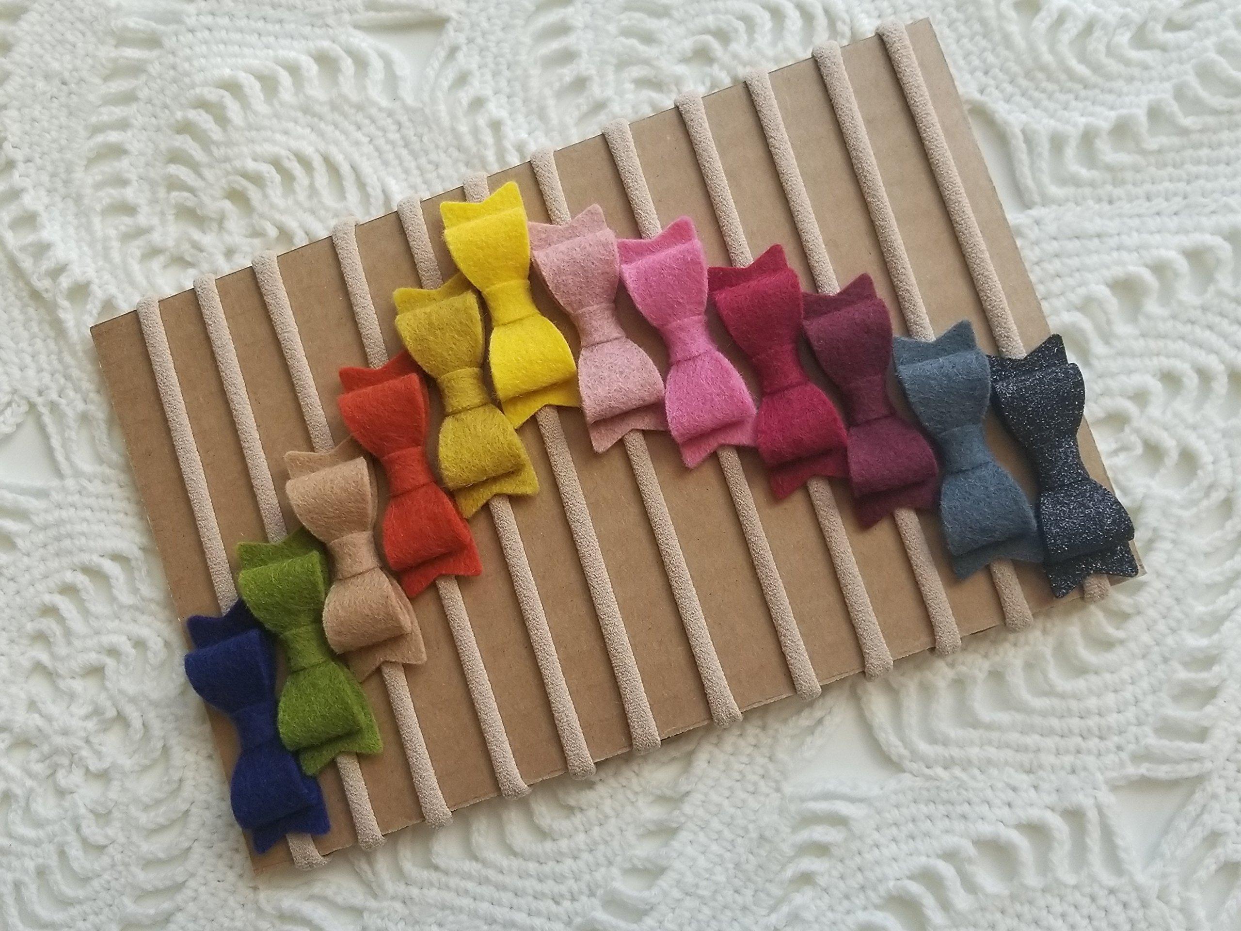 Handmade baby headband Fall Rainbow Baby Bows nylon ...