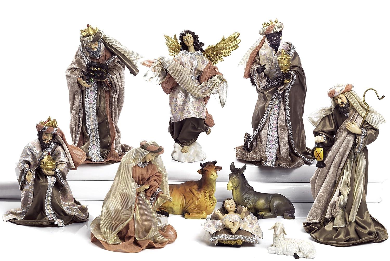 Unbekannt Paben Krippenfigur, 16 16 16 cm, 10 Figuren aus Kunstharz und Stoff. a957e8