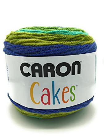 Caron Kuchen 200 g selbst Striping Aran Garn, Acryl, blueberry Kiwi ...