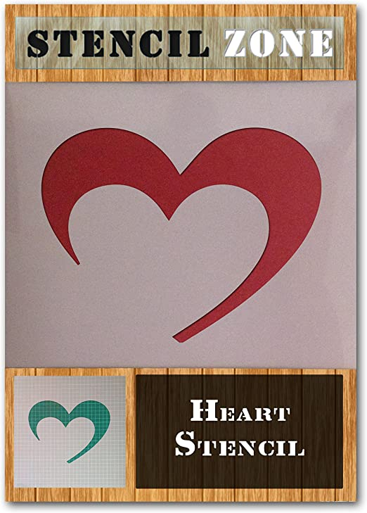 Coeur Amour Mylar Airbrush Peinture murale Art Artisanat Pochoir 3 A2 Taille Pochoir - Large