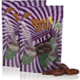 California Pitted Dates - No Sugar Added, Fat Free, All Natural Snack - Resalable Bag - 8oz - Kosher Dried Fruit by Gold Nut (2 Pack)